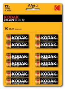 Kodak Xtralıfe 12 Adet Alkalin Kalem Pil - 6x2(AA)